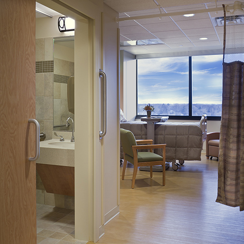 Mercy Center Patient Rooms